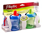 Playtex 2 Pack The First Sipster Spill-Proof Cup, 7 Ounce, Colors Vary