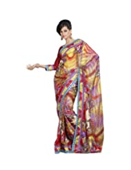Triveni Fancy Saree With Unstitch Blouse - 11006