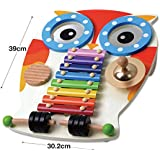 Wooden Musical Table - Xylophone, Guiro, 2 Drums, Cymbal and 2 Beaters (New, boxed, minor paint imperfections)