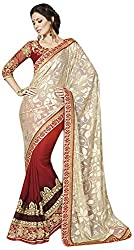 Blossom Boutiques Women's Georgette Saree (1905_1)
