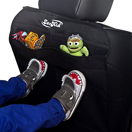 best car seat covers kick mats by zenkid 2 pack universal backseat seat back protectors. Black Bedroom Furniture Sets. Home Design Ideas