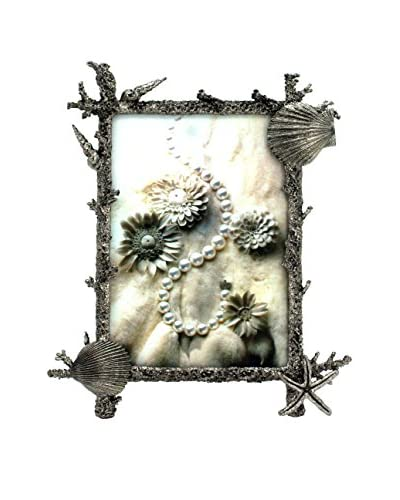 5 x 7 Clam Coral Reef Frame, Pewter