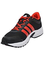 Adidas Men's Tark Black And Red Mesh Running Shoes - UK 11