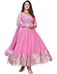 S R Fashion Womens Georgette Baby Pink Cut Work Salwar Suit (SRF_S8_Baby Pink_Semi-Stitched_Anarkali Dress)