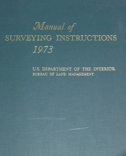 Manual of Surveying Instructions 1973