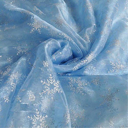 Ana snow Elsa style organza fabric handmade ( one blue organdy )