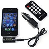 Battery--World FM Transmitter+Car Adapter Charger +REMOTE CONTROLLER For iPod Audio Cable