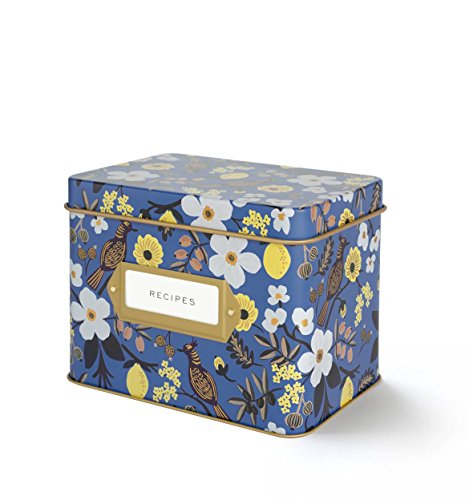 Rifle-Paper-Co-Capri-Blue-Recipe-File-Box-With-12-Dividers-and-24-Recipe-Cards