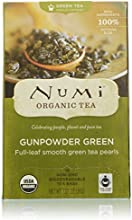 Numi Organic Tea Gunpowder Green Full Leaf Tea Bags 18 Count
