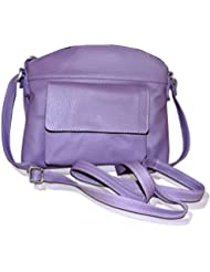 Style98 Purple Leather Women's Messenger Bag