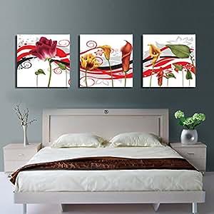 Art family 3 pezzi immagini su tela 50x50cm stampe su for Stampe da appendere