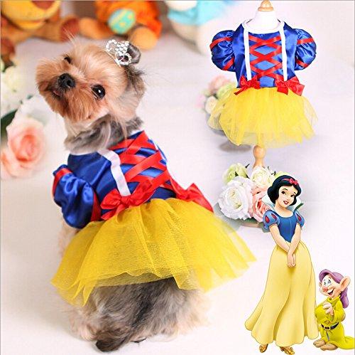 EverTrust(TM) Dog Wedding Party Dress Lace Skirt Pet Dog Clothes Snow White Michael Suits Costumes Size XS-XL Pet (Snow White Dog Costume)