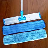 """Commercial and Janitorial 36"""" Microfiber Mop, Telescoping Aluminum Handle and Two Microfiber Pads By Real Clean"""