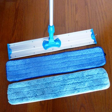 "Commercial and Janitorial 36"" Microfiber Mop Frame, Telescoping Aluminum Handle and Two Microfiber Mop Pads"