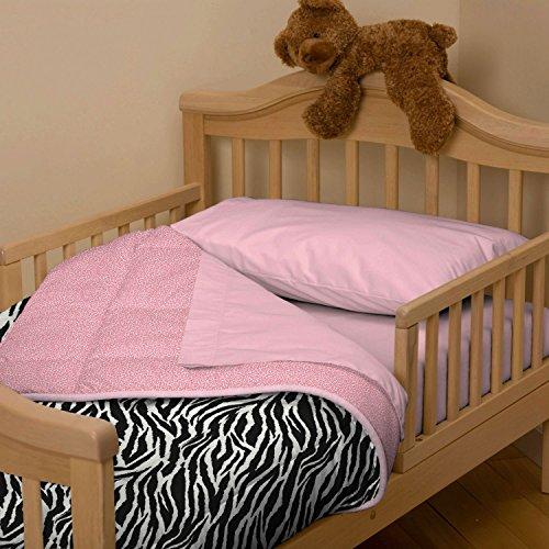 Carousel Designs Black And White Zebra Toddler Comforter