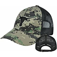 Buy NCAA Texas Longhorns Digital Camo Camouflage Curved Bill Mesh Snapback Hat Cap by Captivating Headgear