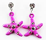 Pink Starfish Earring Kids Fashion EarringsIdeal Fashion Earrings For ChildrenMade Of Metal With Clear Crystal Cubic Zirconias InsetIncludes Rubber BacksMeasures Approximately 0.5 (Inch)