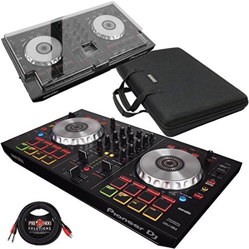 Pioneer DDJ-SB2 DJ Controller & Magma MGA47970 Control-Case XL & DeckSaver Polycarbonate Protective Cover w/ Pig Hog Cable - Bundle (Control Dj Pioneer compare prices)