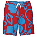 Mossimo Red BB Hibiscus Floral Swim Bottom - XS