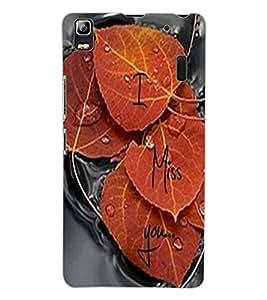 ColourCraft Love Leafs Design Back Case Cover for LENOVO A7000 PLUS