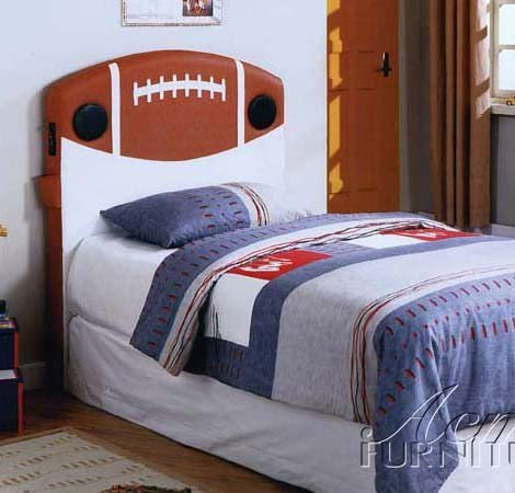 Cheap Kid Youth Twin Size Headboard with Speakers in Football Design (VF_AM0970T)