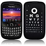 Black Eye Chart Silicone Skin Case Cover For BlackBerry Curve 8520 9300