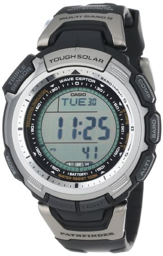 Casio Men's PAW1300-1V Pathfinder Multi-Band Solar Atomic Black Watch