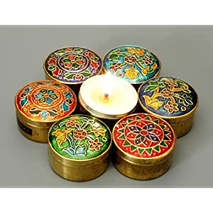 Cloissonne Highly Scented Candles - Medium Set of 7 - Song of India (RExpo)