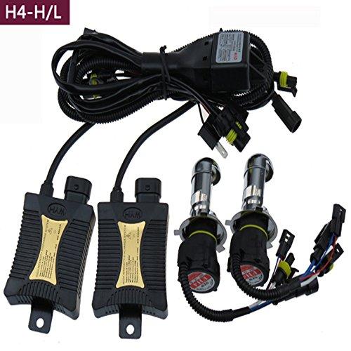 Gbb 55W Hid Xenon Light 4300K Automotive Headlight Spot Lamp Conversion Kit For H4