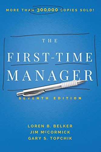 The First-Time Manager [McCormick, Jim] (Tapa Dura)