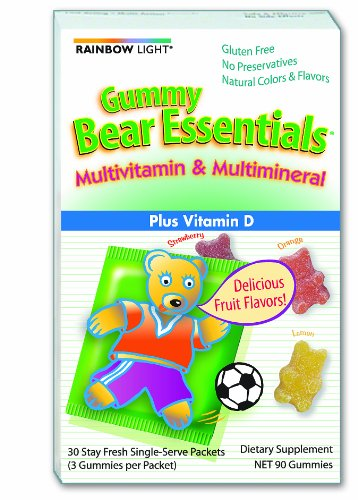 Rainbow Light Gummy Bear Essentials Multivitamin And Multimineral, 30 Count Single Serve Packets