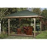 Gartenoase 651 A - Ausführung: Gr. 1, Variante: ohne Dachschindeln, Schindelbedarf: 10 Pkt, Außenmaß: 433 x 433 cm
