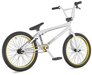 "DK Kvant 2011 BMX Bike, 20"" White with gold rims"