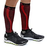 Native Eyewear Small-Medium, Black / Red : Native Planet HONEYCOMB Calf Compression Sleeve Unisex