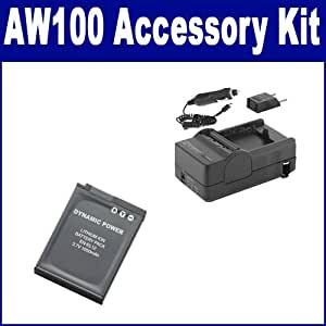 Nikon Coolpix AW100 Digital Camera Accessory Kit includes: SDENEL12 Battery, SDM-197 Charger
