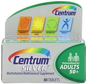 Centrum Silver Multivitamin Supplement, Adult, 80 Count