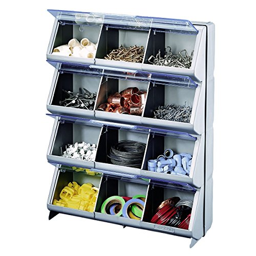Stack-On CB-12 Clear View 12-Bin Organizer image