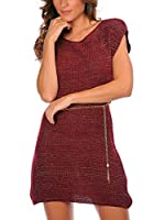 Anouska Vestido Punto Lisa (Burdeos)