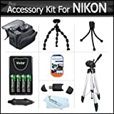 Accessory Kit For Nikon Coolpix L100 L110 L120 L310 L810 L820 L620 L830 Digital Camera Includes USB 2.0 SD Card...
