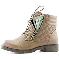 DailyShoes Womens Military Up Buckle…