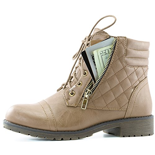 DailyShoes-Womens-Military-Up-Buckle-Combat-Boots-Ankle-High-Exclusive-Credit-Card-Pocket