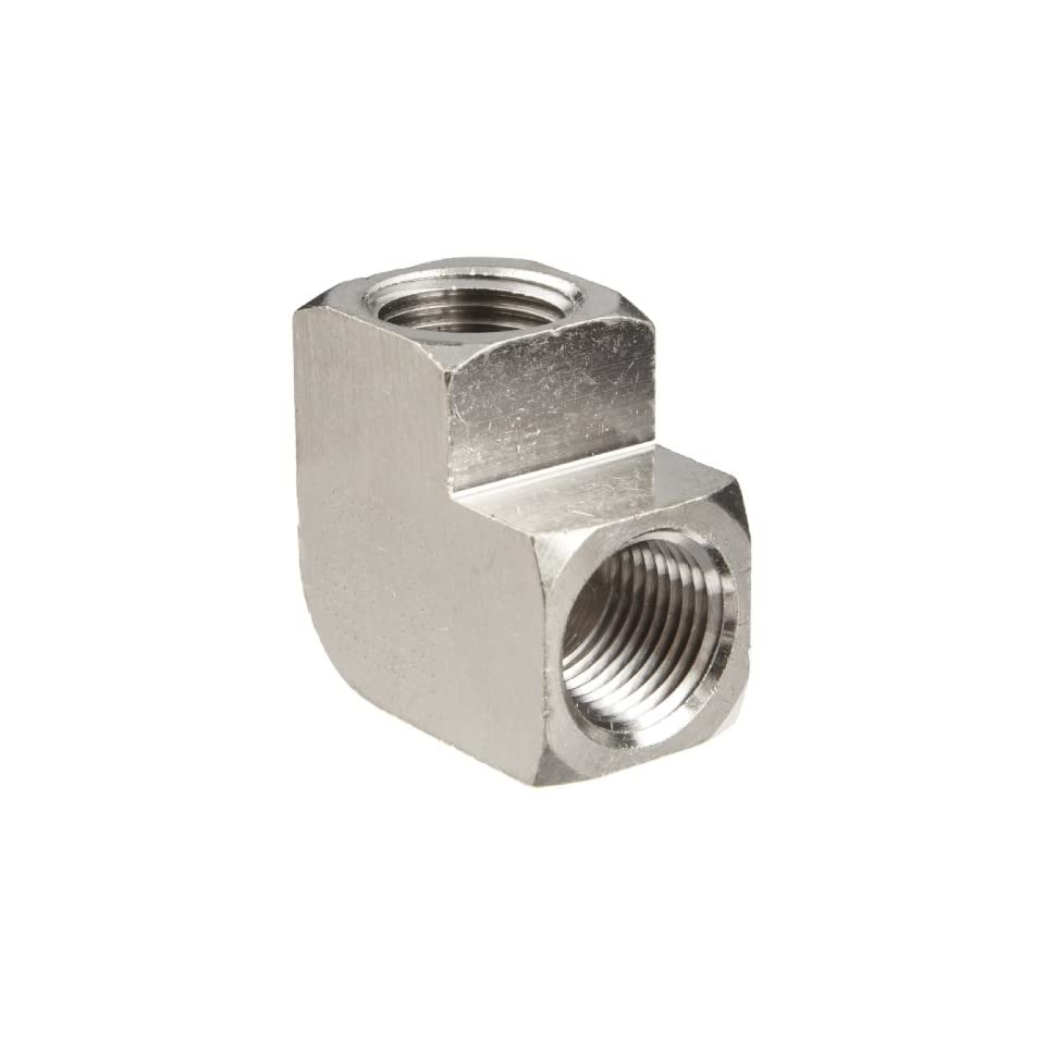 Polyconn PC100NB 8 Nickel Plated Brass Pipe Fitting, 90 Degree Elbow, 1/2 NPT Female (Pack of 5)