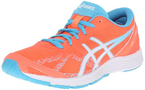 ASICS Women's Gel-Hyper Speed 7 Running Shoe, Flash Coral/White/Turquoise, 6.5 M US