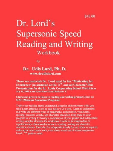 Dr.  Lord's Supersonic Speed Reading and Writing Workbook