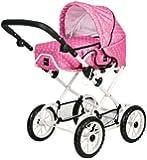 Brio 24891331 - Puppenwagen Combi, punkten, pink