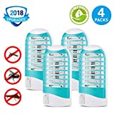 PESTGO Mosquito Killer, [2018 Upgrade] Bug zapper Electric Gnat Zapper Fly Zapper Catcher Killer Trap – Protects Up to 200 Sq Ft/Bug and Fly Killer, Mosquito Trap – For Residential and Commercial Use (Color: black)