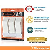 Wundermax Decorative Door Stopper 3 Pack With Free Bonus Holders, Door Stop Works on All Floor Surfaces, Premium Rubber Door Stops, The Original (White) Color: White, Model: , Outdoor & Hardware Store