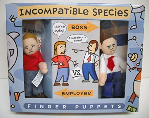 Incompatible Species Boss Vs. Employee Finger Puppets