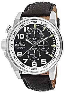 buy Invicta Men'S 13053 Force Left-Handed Stainless Steel Watch With Black Leather Band