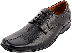 First Expression Mens Black Leather Formal Shoes - 8 UK